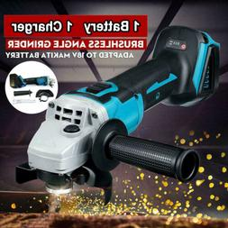 18V Cordless Brushless Angle Grinder Cut off Tool + Battery