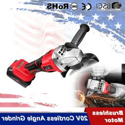 20V 18V cordless Angle Grinder brushless Cut Off Power Tool