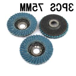 3pcs 75mm grinding wheels flap discs 3