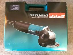 "MAKITA 4"" CORDED ANGLE GRINDER with Heavy-Duty Case  NEW  NI"