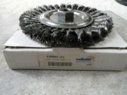"WEILER 6"" KNOT WIRE WHEEL BRUSH 3H503 FOR STRAIGHT OR RIGHT"