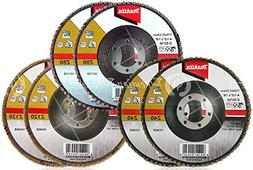 Makita 6 Piece - Multi Grit Flap Disc Set For Grinders - 3-I
