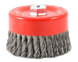 Forney 72756 Wire Cup Brush, Knotted with 5/8-Inch-11 Thread