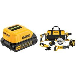 DEWALT DCK720D2 2 Ah 20V MAX Compact 7-Tool Combo Kit and US