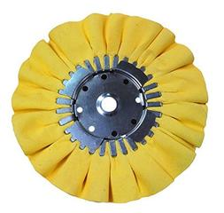 Airway Buffing Wheel 8 Inch X 3 Inch X 5/8 Arbor 16 Ply Yell