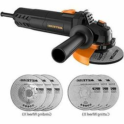 Meterk Electric Angle Grinder 6A 4-1/2inch with 115mm 3 Grin