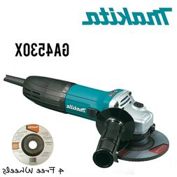 Makita GA4530X 6 Amp 4-1/2 in. Corded Angle Grinder w/ 4 Fre