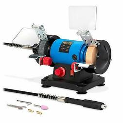 "3"" inch Bench Grinder w/ Flex Shaft Wrenches Pro-Grade"