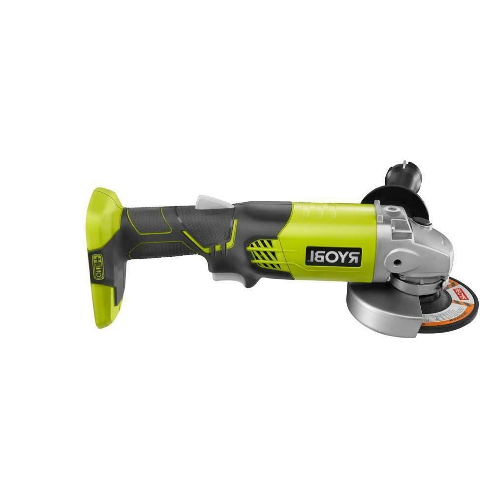 New Ryobi P421 - 18-Volt ONE+ 4-1/2 in. Angle Grinder  6,500