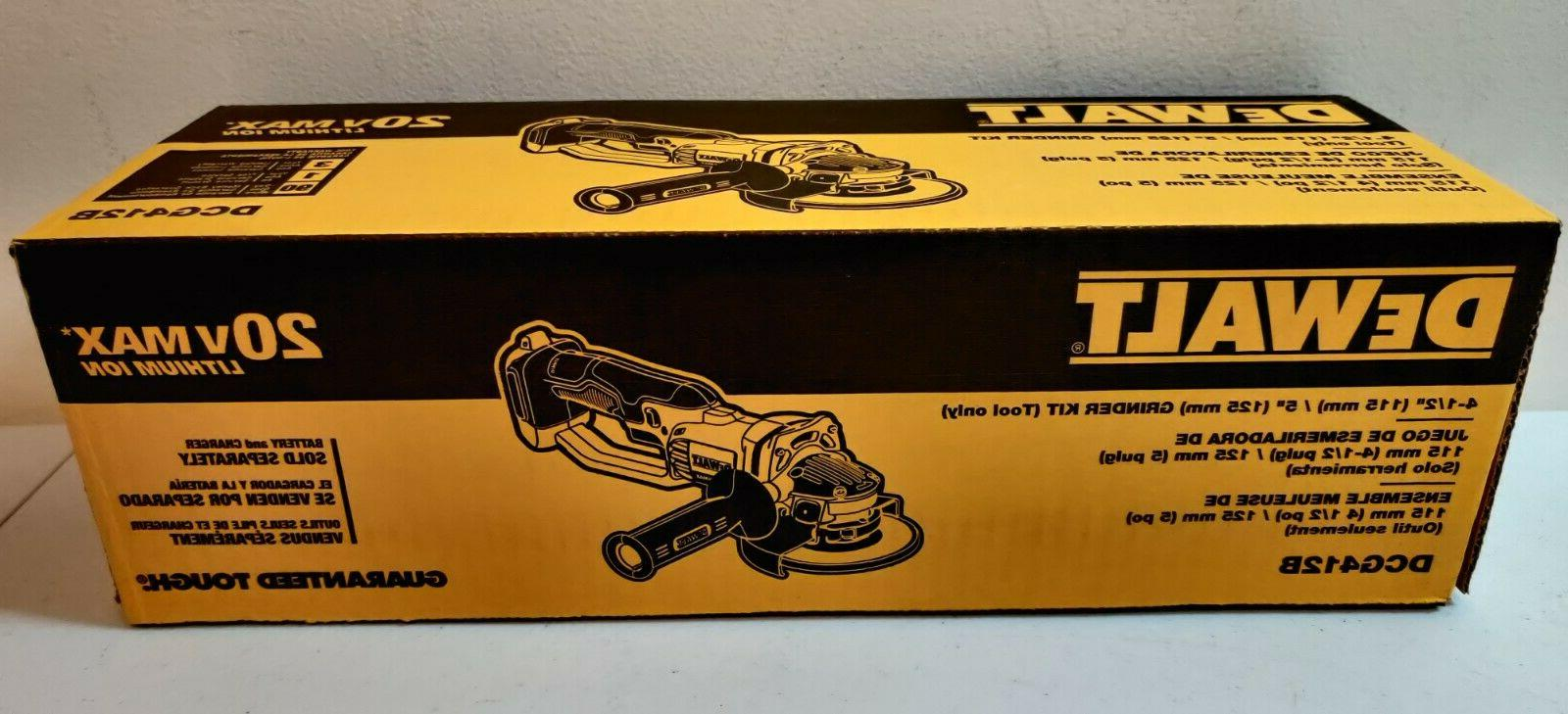 "Dewalt 20V Cordless Battery Angle Grinder 1/2"" Volt Cut-Off"