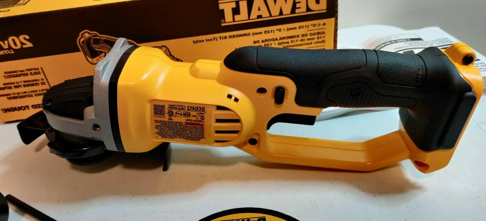"Dewalt DCG412 Battery 1/2"" 20 MAX Cut-Off"