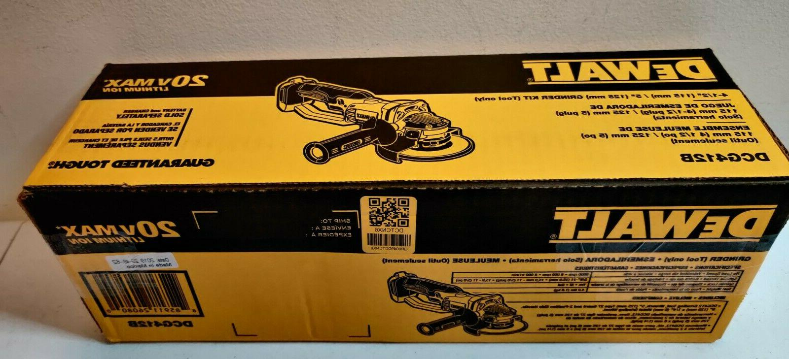 "Dewalt DCG412 Cordless Battery Angle Grinder 1/2"" Volt MAX Cut-Off"