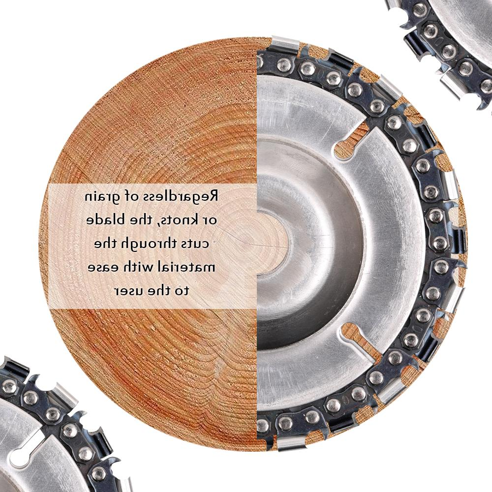4 Inch <font><b>Grinder</b></font> Disc With Tooth Fine Cut for Wood Carving Chainsaw Disc