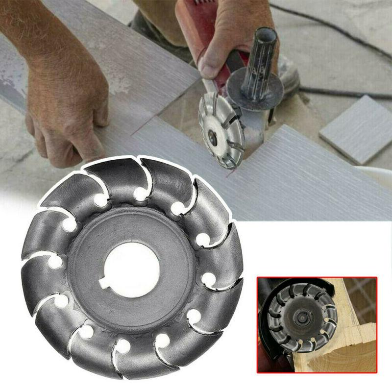 angle grinder shaping saw blade wood carving
