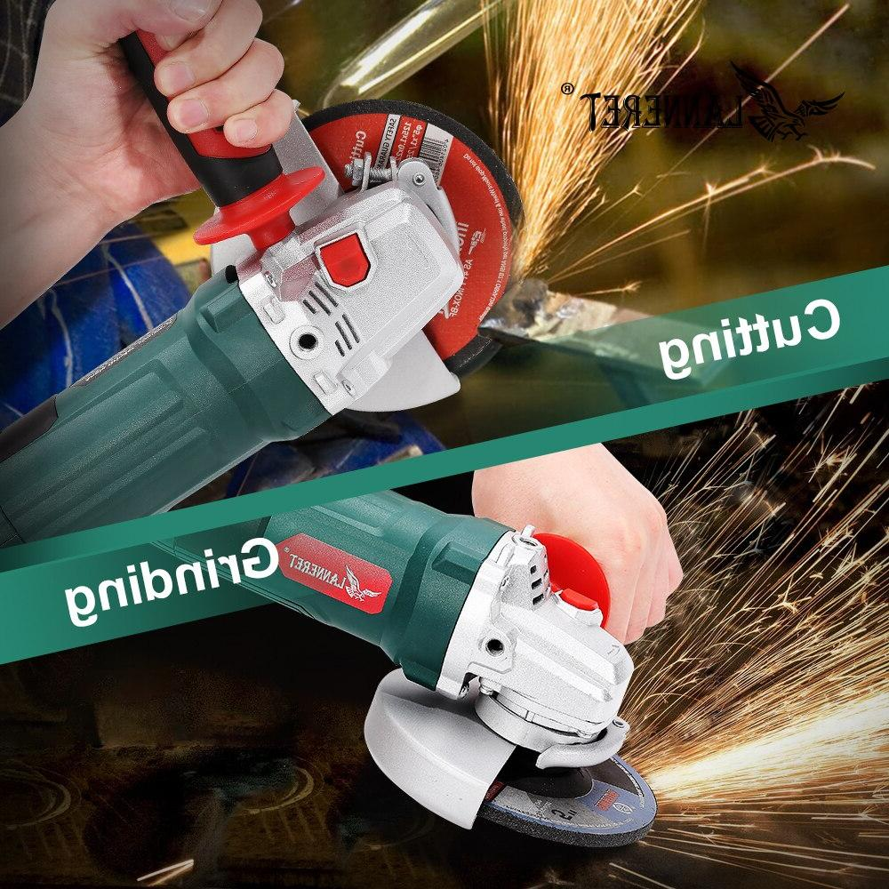 LANNERET Electric 1050W 125mm Variable 3000-10500RPM Toolless Cutting Grinding Stone Work