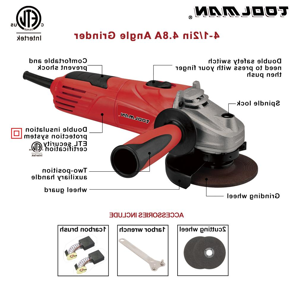 """Heavy duty Angle Grinder 4.5"""" 11500 RPM4.8A"""