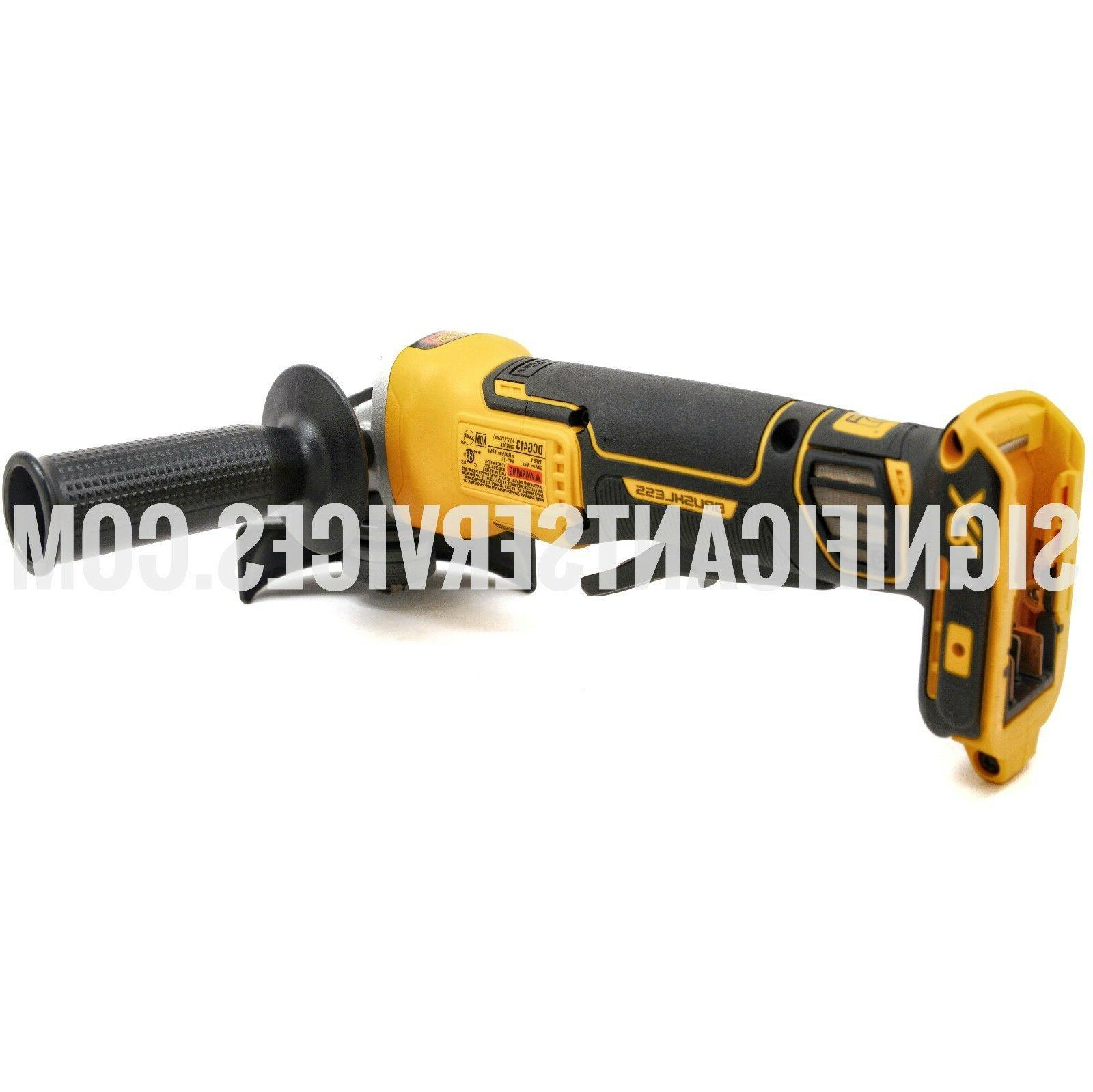 NEW DeWALT Volt MAX XR 4 Brushless Grinder w