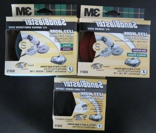 "3m Sandblaster 03071 4-1/2"" Assorted Grits Right Angle Grind"
