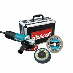 "MAKITA 4-1/2"" Angle Grinder With Diamond Blade And 4 Grin MA"
