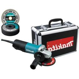 Makita Angle Grinders 9557PBX1 4-1/2-Inch With Aluminum Case
