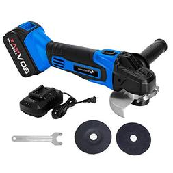 "PROSTORMER 20V Max Cordless 4-1/2"" Angle Grinder with 3-Posi"