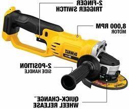New Dewalt DCG412 20V Cordless Battery Angle Grinder 4 1/2""