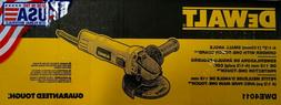 NEW DeWalt DWE4011 Corded 7 amps 4-1/2 in. Small Angle Grind