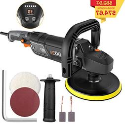 "TACKLIFE Polisher, 7""/9"" 12.5Amp 1500W Variable Speed Bu"