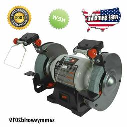 PORTER-CABLE 6-in Bench Grinder with Built-in Light Shaping