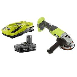 Ryobi P421 ONE+ 18V Angle Grinder with Intelliport Duel Chem