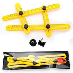Universal Template Tool Ruler, Easy Multi Angle Measuring To